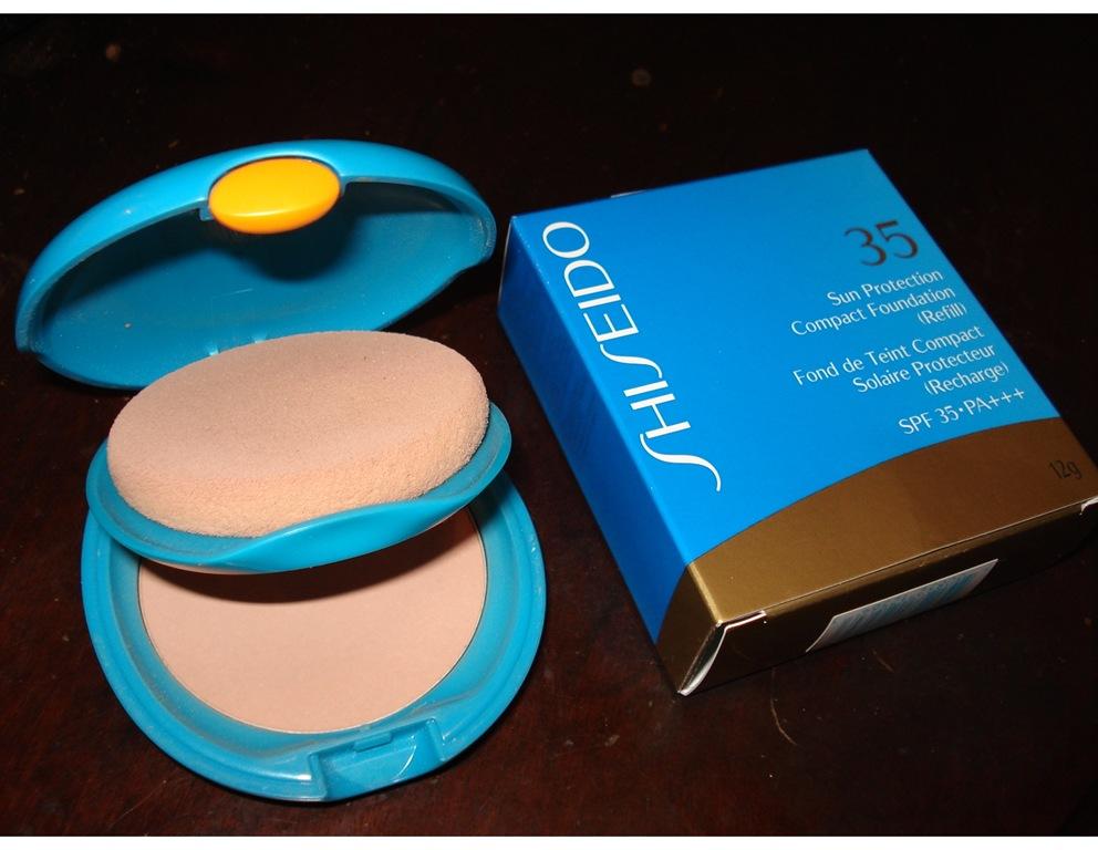 shiseido sun protection compact