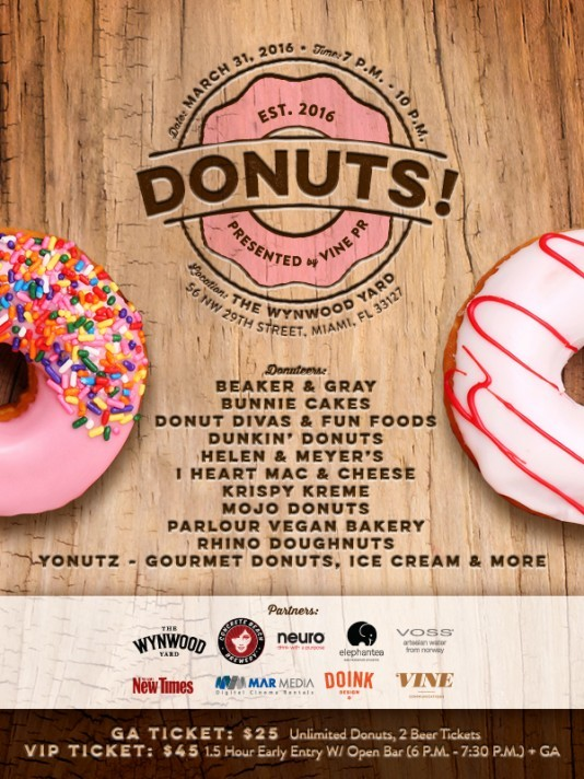 Donuts Miami, City's First Donut Festival March 31 ...